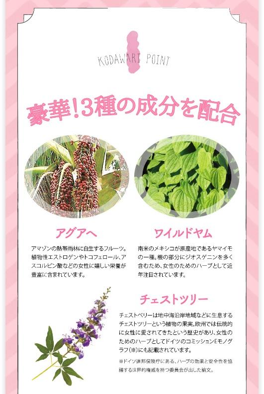 マシュマロヴィーナスに含まれている3種の有効成分