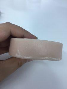ピンク色の石鹸