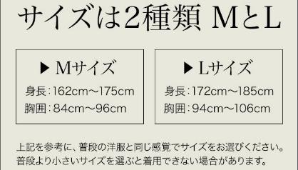 金剛筋シャツMとL2種類の説明