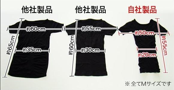 金剛筋シャツと他社製品の比較写真