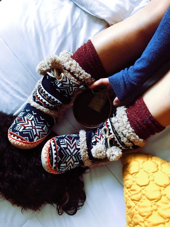 足を温める画像
