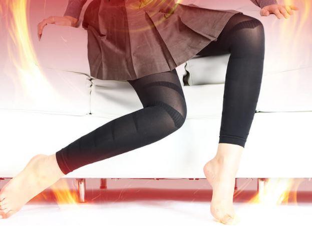 メディレギンスを履いた女性の脚