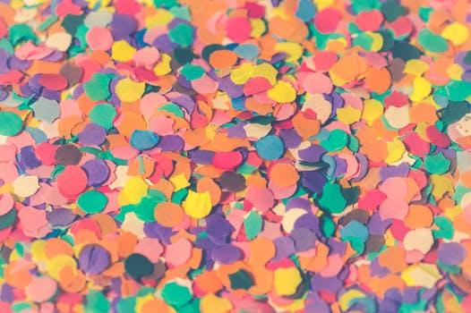 カラフルなテクスチャ・いろんな色や形の紙