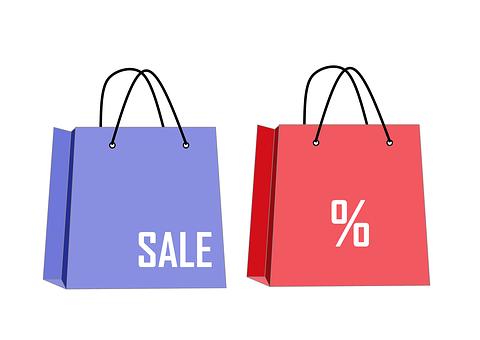 紫赤買い物袋