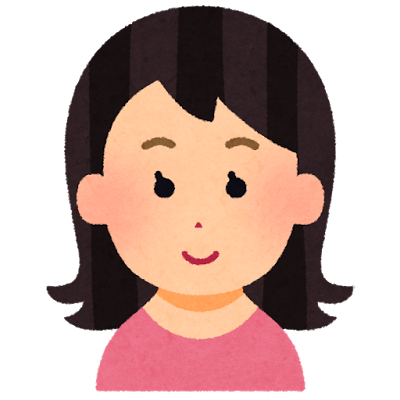 笑顔の女性アイコン