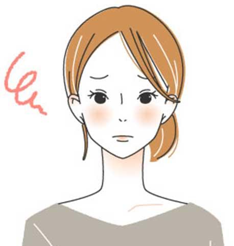 茶髪の女性