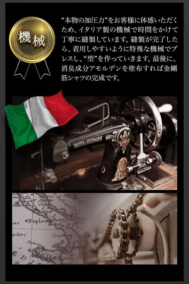 金剛筋シャツを縫うイタリアのミシン