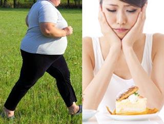 運動する人と悩む女性