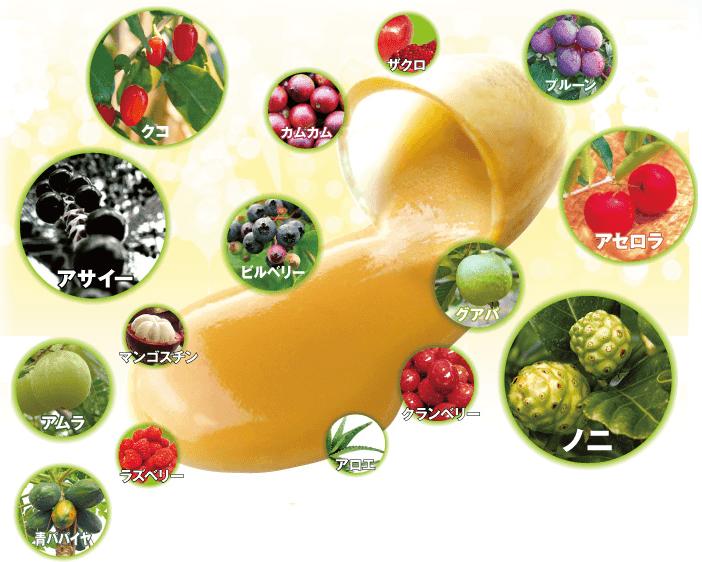 丸ごと熟成生酵素に使用されている植物