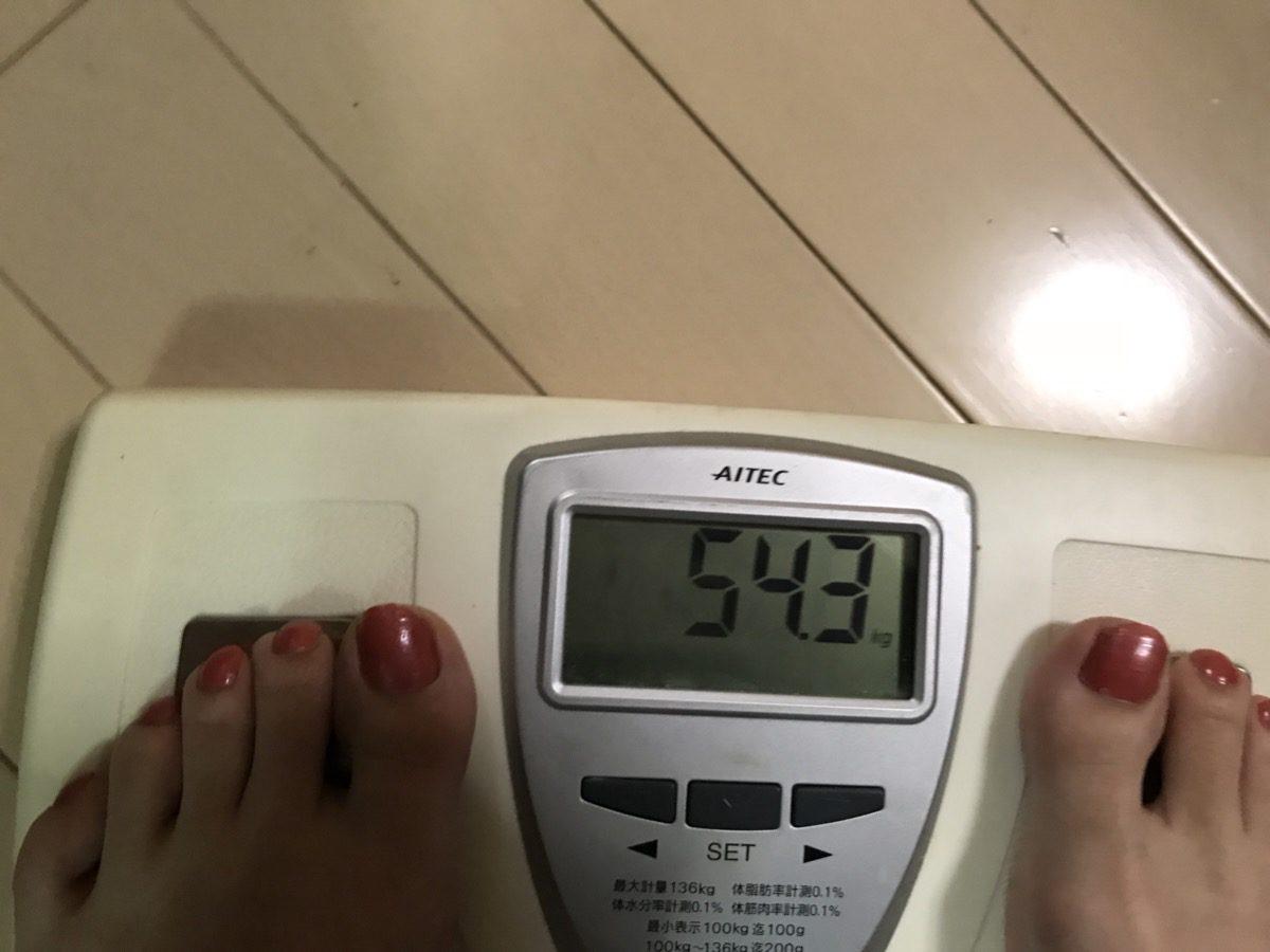 Vアップシェイパー 元の体重