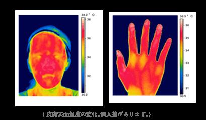 皮膚表面温度の変化