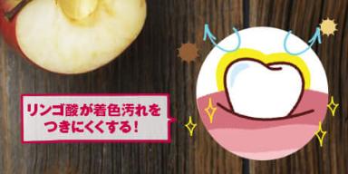 りんごと歯のイラスト