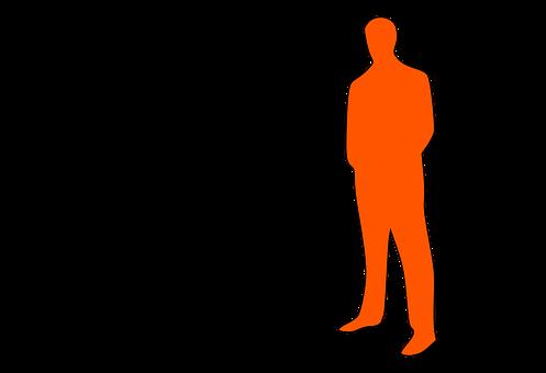 男性複数・体型のシルエット