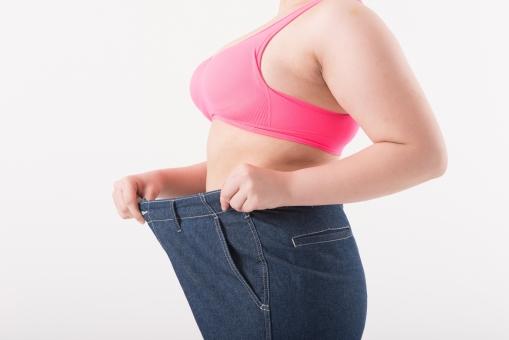 痩せた女性の画像
