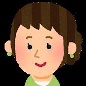 まとめ髪の若い女性アイコン