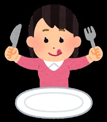 食後の女性