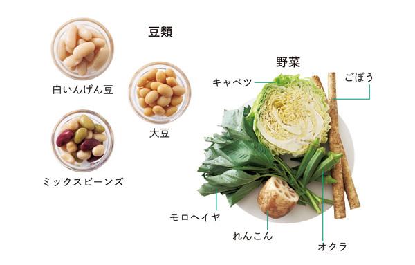 豆類と野菜
